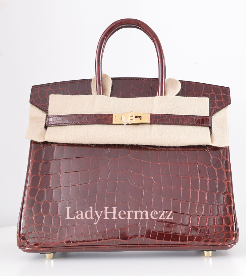 Hermes Rose Sakura Swift Kelly 25cm Gold Hardware