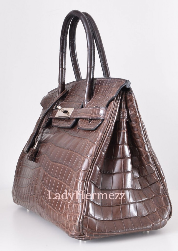 Hermes Kelly Cut in Gris Tourterelle Crocodile with Gold Hardware Pristine