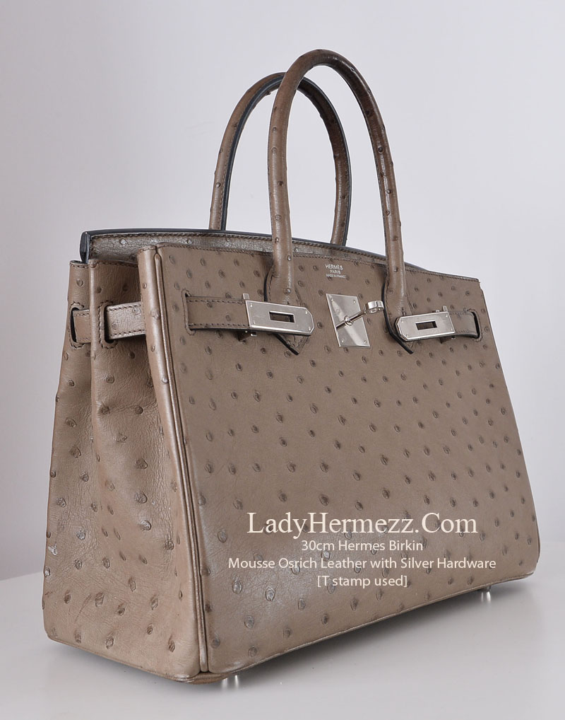 33460c5f82f1 Hermes Birkin bag 30 Black Ostrich leather Silver hardware Replica ...  Crocodile and Exotic Hermes Bags Archives - LadyHermezz.Com