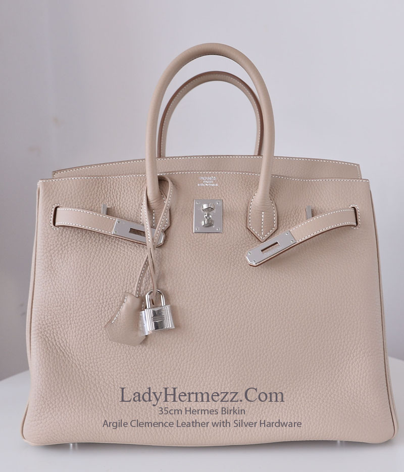 35cm Hermes Birkin Argile   Clay Beige in Clemence Leather with Silver  Hardware Our Price   £10 cfc0cfe6189d7