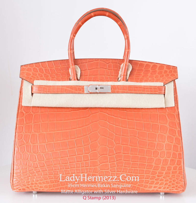 Hermes Rouge Pivoine Togo Leather 35cm Birkin Bag w/ Palladium Hardware