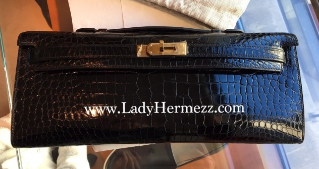 hermes fuchsia shiny niloticus crocodile kelly cut gold hardware