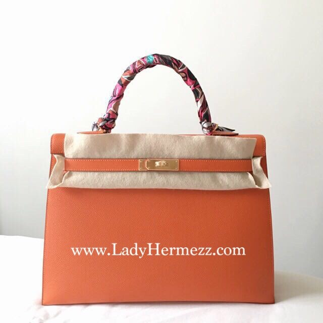 Hermes Kelly 32cm Red Swift Leather Ghw