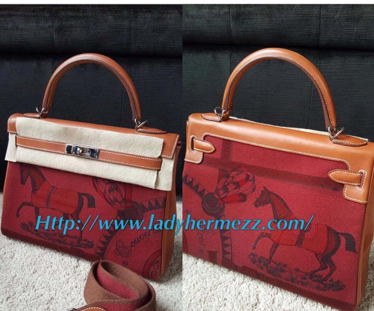 hermes double sens orange/pearl