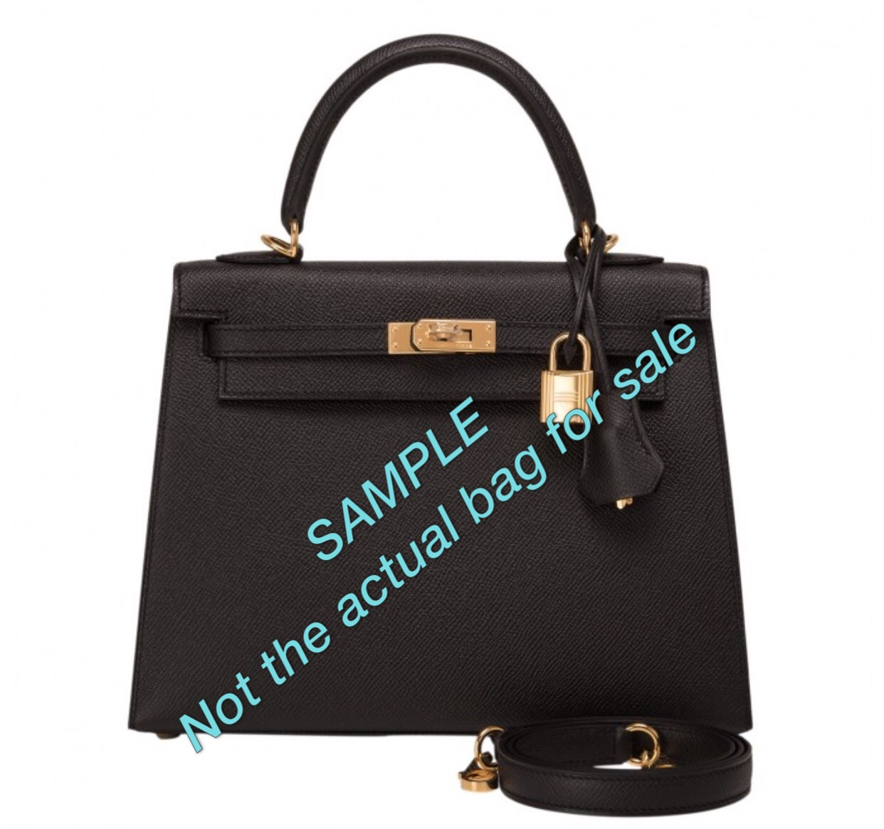 ffbb8c9ff09e Details   25cm Hermes Kelly Sellier Black Epsom Leather Gold Hardware X