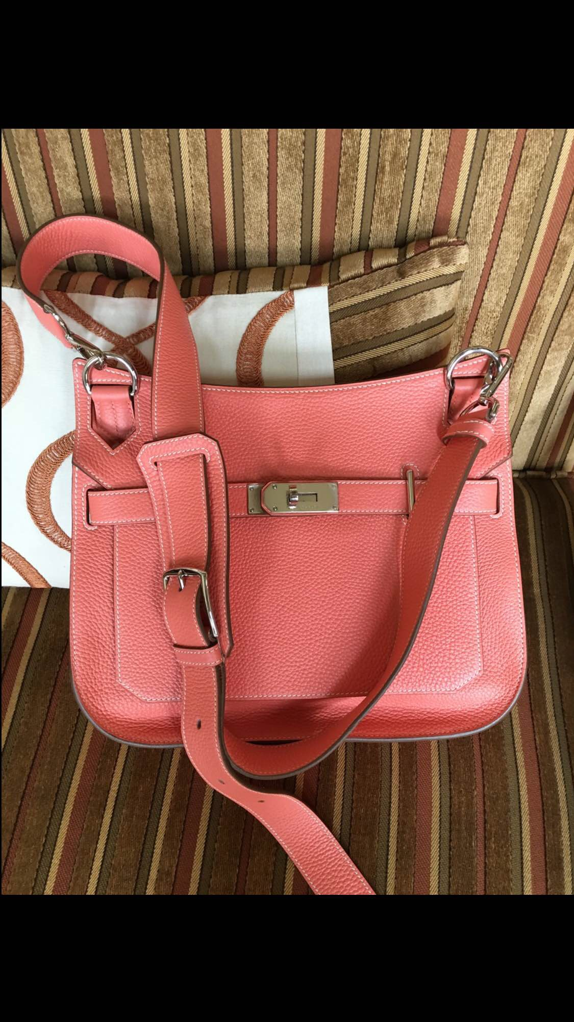 tasche hermes - hermes garden party medium fire orange/fire orange
