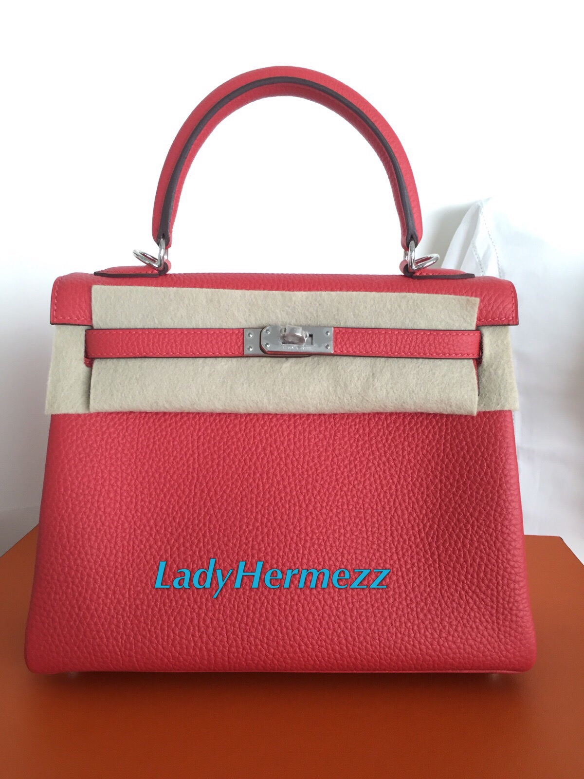 hermes kelly 32 brown box leather phw