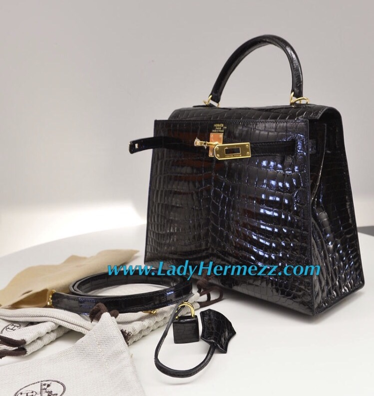 hermes birkin bag 25cm sanguine shiny niloticus crocodile gold hardware
