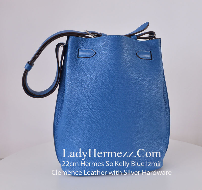 birkin clutch - 22cm Hermes So Kelly Blue Izmir Clemence PHW ��3500 - LadyHermezz.Com